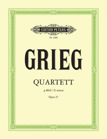 Grieg: String Quartet G Min Op27: String Quartet Score and Parts