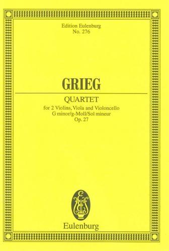 Sring Quartet G Minor Op27: Miniature Score