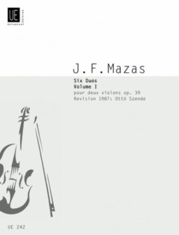 Mazas: 6 Duets Op39 Book 1 Violins