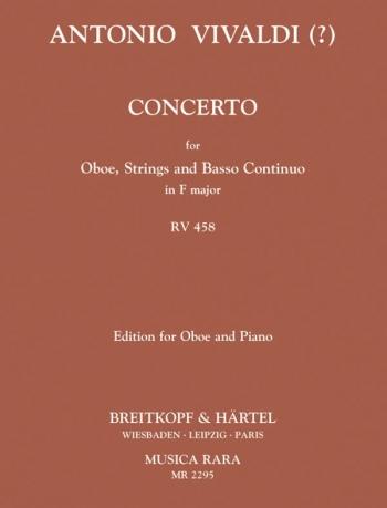 Concerto: F: Rv458: Oboe & Piano