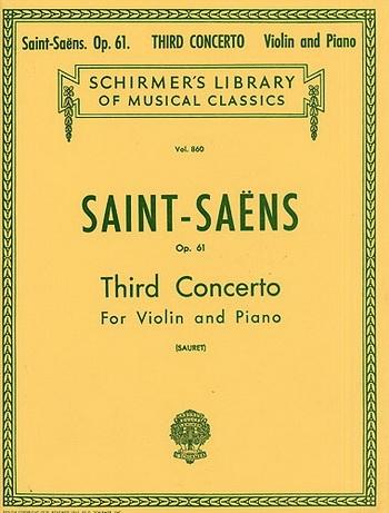 Concerto No 3 Op61 B Minor: Violin and Piano
