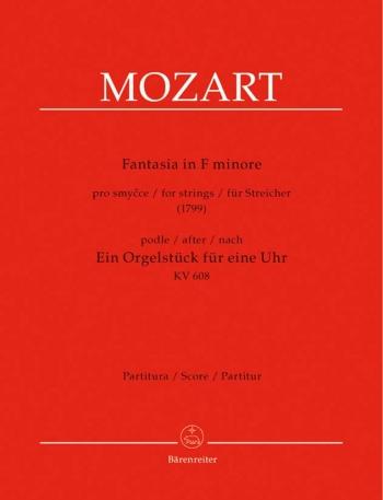 Mozart-fantasia-f Minor-string Quartet-full Score
