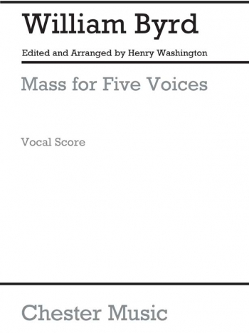 Mass For 5 Voices: Vocal Score (Chester)