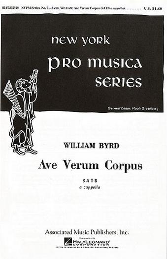 Ave Verum Corpus: Satb: Vocal
