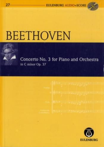 Concerto No 3: C Minor: Op37: Miniature Score  (Audio Series No 27)