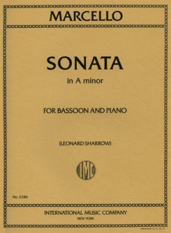 Sonata In A Minor: Bassoon & Piano (International)