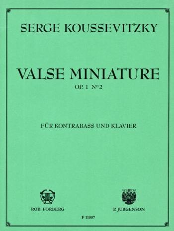 Valse Miniature: Op1 No.2: Double Bass