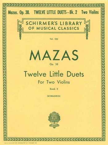 12 Little Duets Op38: Vol2: 7-12: Violin Duet