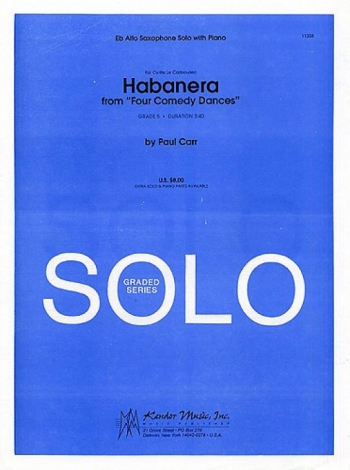 Habanera: Four Comedy Dances: Alto Saxophone