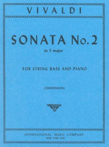 Sonata: F Major: No.2: Double Bass