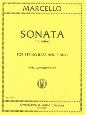 Sonata Op2/6 In Emin: Double Bass and Piano