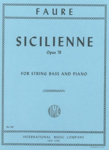 Sicilienne: Op78: Double Bass