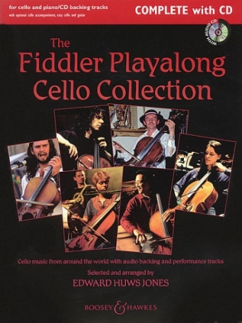 Fiddler Playalong: Cello & Piano: Book & cd: (Huws Jones) (Boosey & Hawkes)