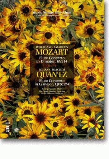 Concerto: D Major Kv314 And Quantz Concerto G Major: Flute Book & 2 cds  (MMO)