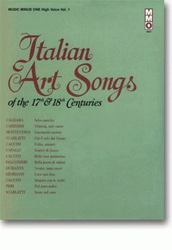 Music Minus One: Italian Art Songs Of The 17th and 18th Cent: High Voice (mmo)