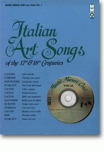 Music Minus One: Italian Art Songs Of The 17th and 18th Cent: Low Voice (mmo)