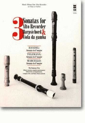 Music Minus One: 3 Sonatas For Treble Recorder