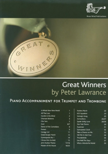 Great Winners Treble Brass Piano Accompaniment For Trumpet & Trombone