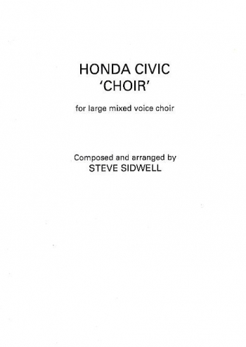 Honda Civic Choir: Satb: Vocal