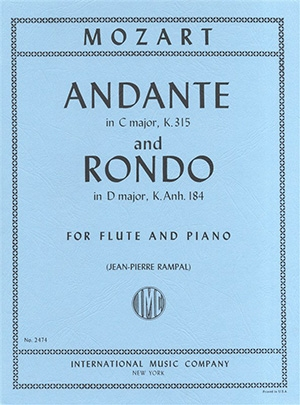 Andante In C and Rondo In D: Flute And Piano (International)