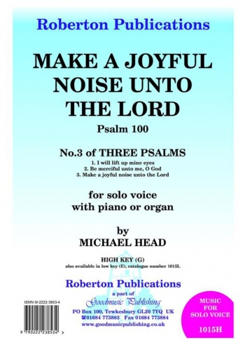 Make  A Joyful Noise: Voice and Piano (High)