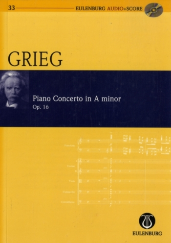 Piano Concerto: A Minor: Op 16  Miniature Score & Cd  (Audio Series No 33)