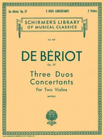 3 Duos Concertante Op57: 2 Violins