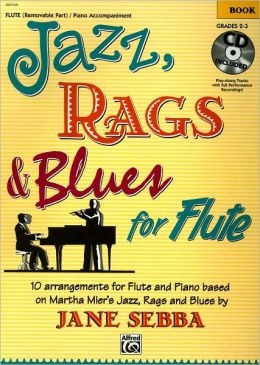 Jazz Rags & Blues Book 1 Flute Grade 2-3 Book & CD  (jane Sebba)