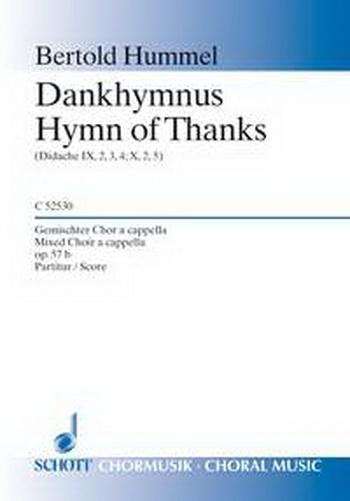 Hymn Of Thanks: Dankhymnus: Mixed Choir: A Capella
