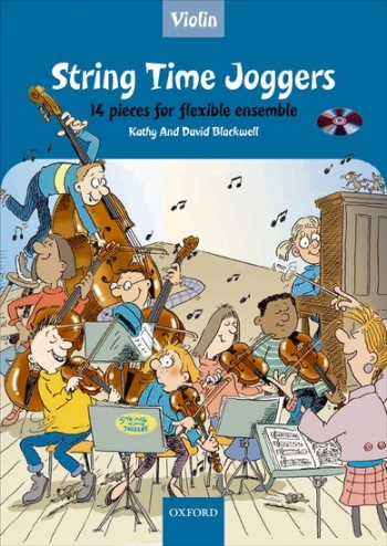 String Time Joggers: Violin Part: 14 Pieces Flexible Ensemble Book & CD  (Blackwell)