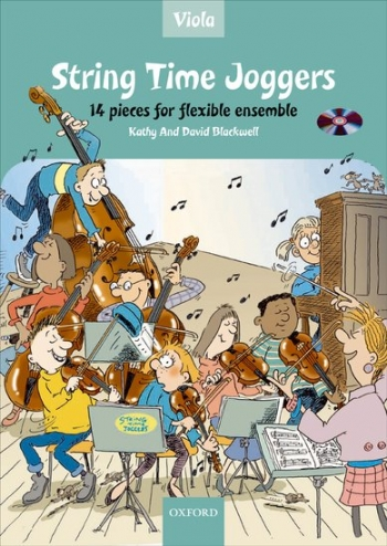 String Time Joggers: Viola Part: 14 Pieces Flexible Ensemble Book & CD  (Blackwell)