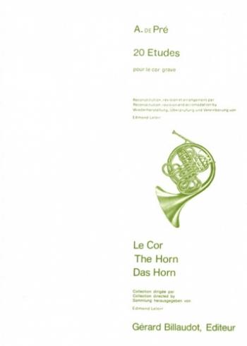 20 Etudes Pour Cor Grave: (20 Studies) French Horn (Billaudot)