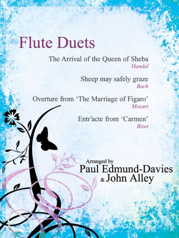 Flute Duets: Arrival Of The Queen Of Sheba + 3 More Flute Duets & Piano Accomp (edmund-davies)