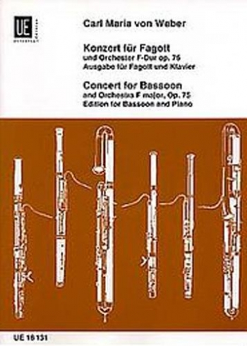 Bassoon Concerto F Major: Op.75: Bassoon & Piano (Universal)