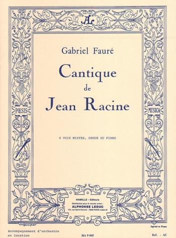 Cantique De Jean: Satb: Vocal Score (Leduc)