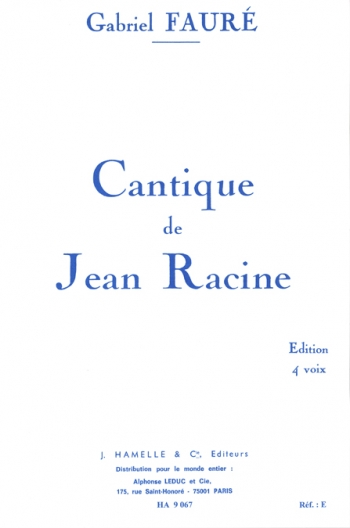Cantique De Jean Op11: Satb: Choir Part (leduc)
