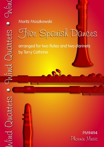 Moszkowski: Five Spanish Dances: 2 Flutes and 2 Clarinets (cathrine/Phoenix)
