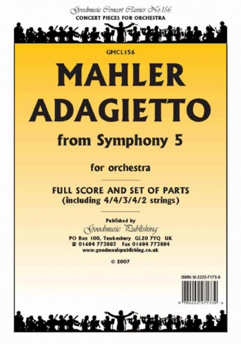 Concert Classic Series: Mahler: Adagietto: Symphony No 5: String Orchestra: Score and Pts