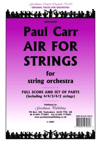 Orch: Carr :  Air For Strings :  String Orchestra :  Score and Pts