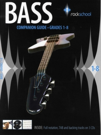 Rockschool Bass Companion Guide: Grade 1-8: Full Notation, Tab: Book & CD
