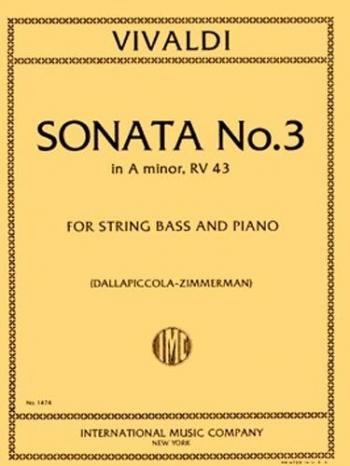 Sonata No 3 A Minor Rv43: Double Bass