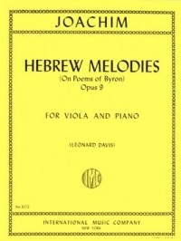 Hebrew Melodies: On Poems Of Byron: Opus 9: Viola and Piano