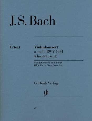 Concerto A Minor  No.1 Bwv1041: Violin & Piano (Henle)