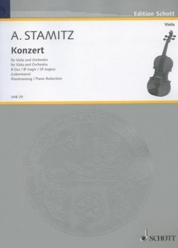 Concerto: Bb Major: Viola and Piano