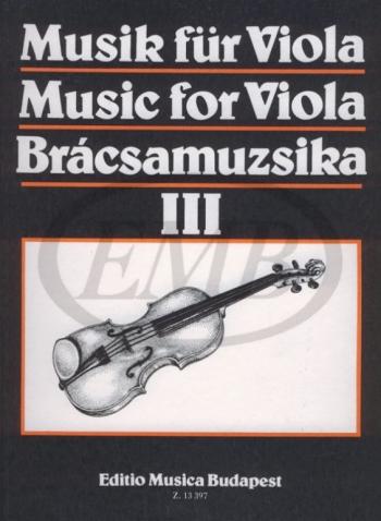 Music For Viola III: Viola & Piano (szeredi) (EMB)