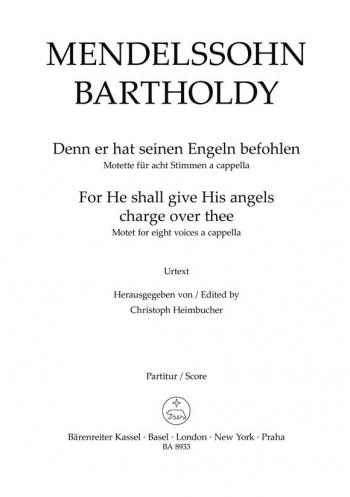 Motet: For He Shall Give His Angels Charge Over Thee: Ssaattbb: Score