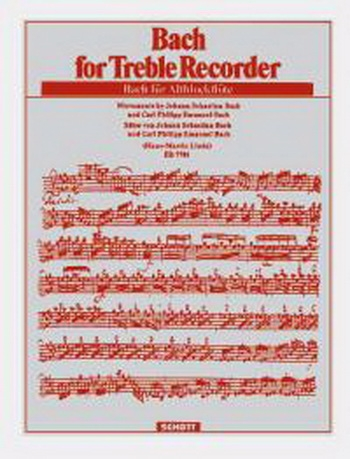 Bach For Treble Recorder & Piano (hans-martin Linde)