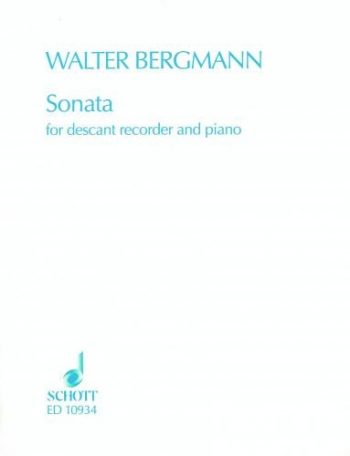 Sonata: Descant Recorder and Piano