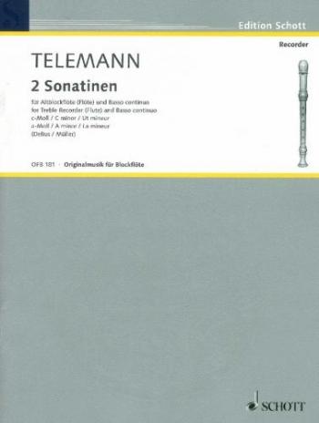 2 Sonatinen: C Minor/A Minor: Treble Recorder and Piano