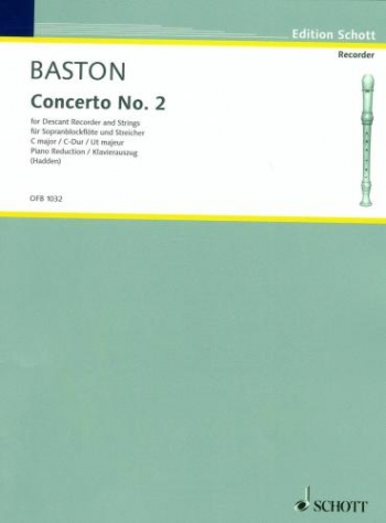Concerto No.2: Descant Recorder and Piano (schott)